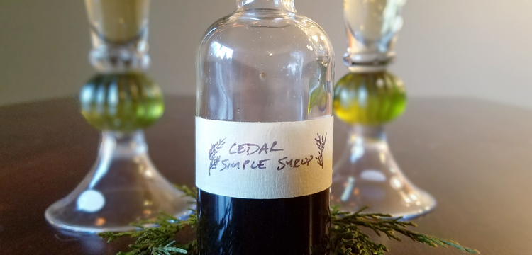 Cedar simple syrup 1