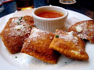 Thumb toasted ravioli