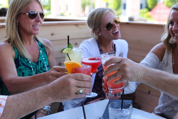 Sit on the patio and enjoy drinks with friends or coworkers during Room 38's Happy Hour.