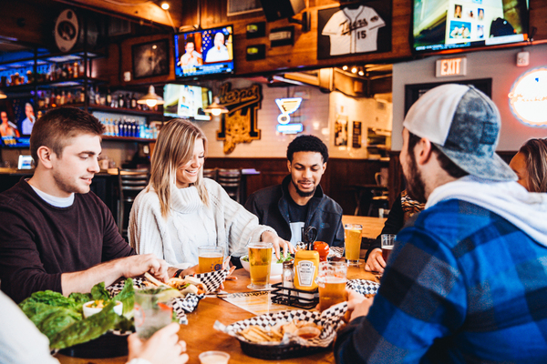 Enjoy time with friends while eating delicious food when you visit Harpo's in Columbia, Mo.