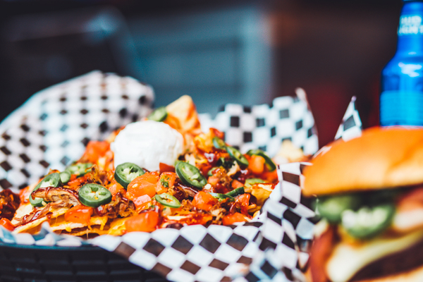Shareable nachos and other delicious items from Harpo's bar and grill in Columbia, Mo.