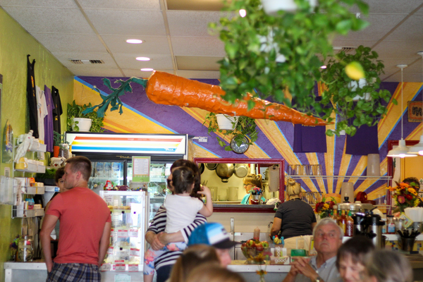 The quirky, fun and healthy decorations inside Main Squeeze in Columbia, MO