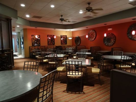 Romantic, large dining area at Chris McD's