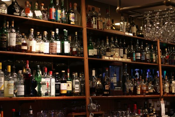 Alcohol selection available at Grand Cru.