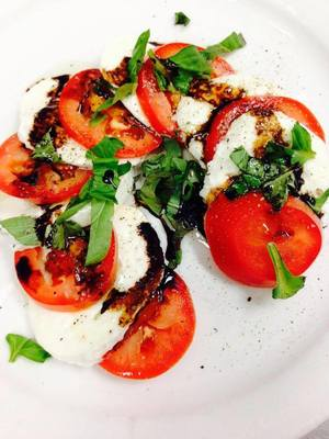 Healthy, non pasta options like Caprese salad are also available at The Pasta Factory.