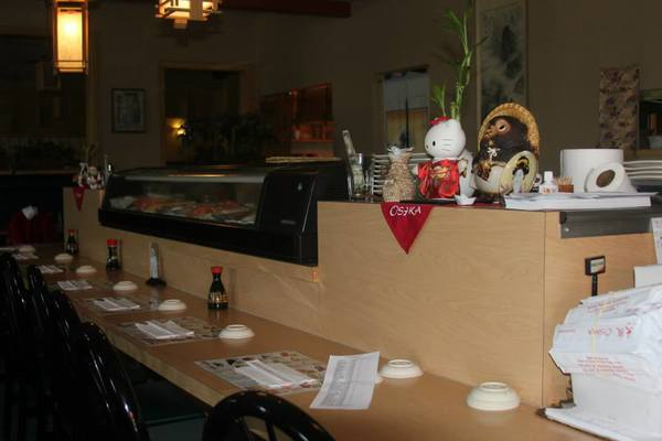 The sit up bar of Osaks Japanese and Sushi restaurant