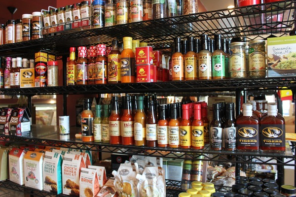 Hoss's offers a wide selection of sauces, dips, wine, cheese and more market items.