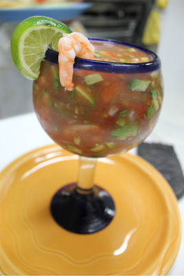Shrimp cocktail, Mexican Restaurant