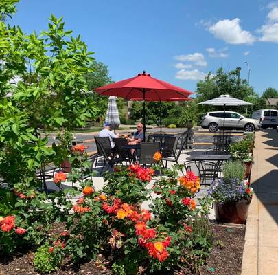 Visit Hoss's Market's new patio for outdoor seating in Columbia, Mo.