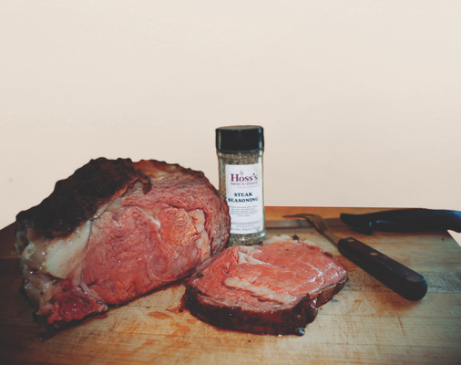 Delicious steak and seasoning for lunch or dinner, visit Hoss's Market in Columbia, Mo.